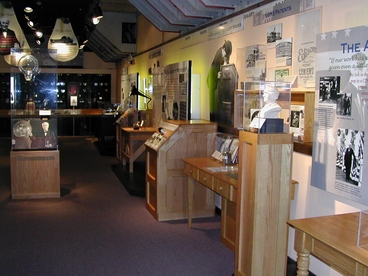 Museum exhibits right side wall